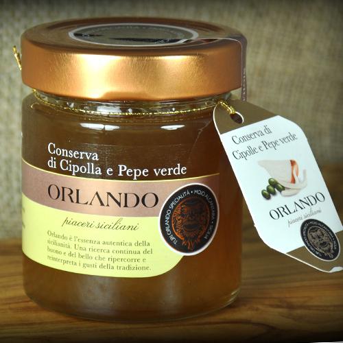 Conserva di Cipolla e Pepe Verde vaso 220 gr