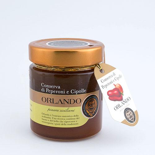 Conserva di Peperoni e Cipolla vaso 220 gr
