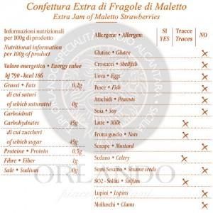 Confettura Extra di Fragole di Maletto vaso 220 gr