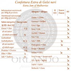 Confettura Extra di Gelsi Neri vaso 220 gr