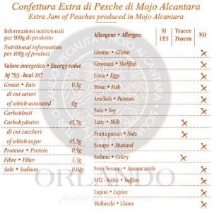 Confettura Extra di Pesche vaso 220 gr