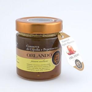 Conserva di Cipolla e peperoncino vaso 220 gr