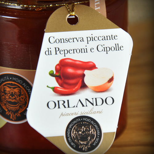 Conserva Piccante di peperoni e Cipolla vaso 220 gr