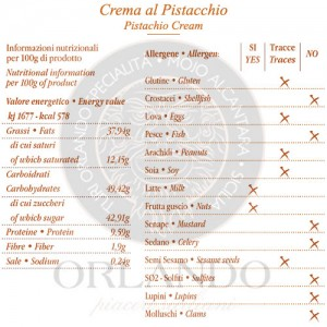 Crema al Pistacchio vaso 220 gr