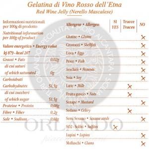Gelatina di Vino Rosso dell'Etna vaso 220 gr