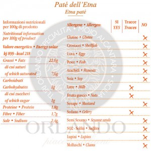 Patè dell'Etna vaso 220 gr