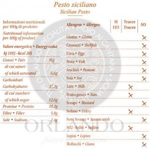 Pesto Siciliano vaso 220 gr